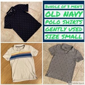 Bundle of 3 Old Navy Polo Shirts